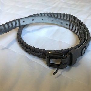 Kooba Brown Leather Braided Belt Sz Medium
